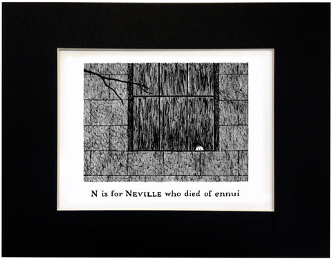 N is for Neville who died of ennui Print - GoreyStore