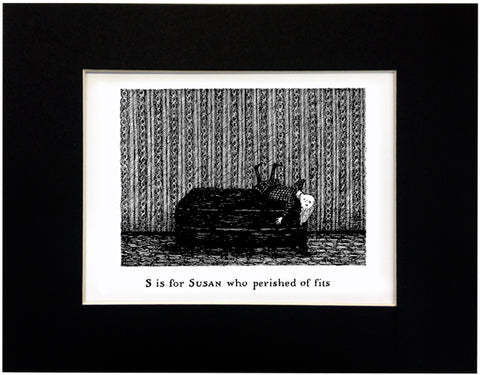 S is for Susan who perished of fits Print - GoreyStore