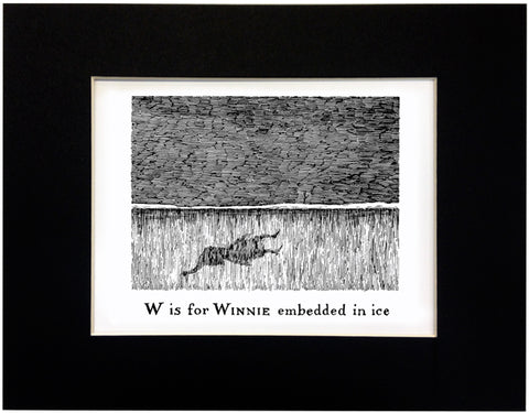 W is for Winnie embedded in ice Print - GoreyStore