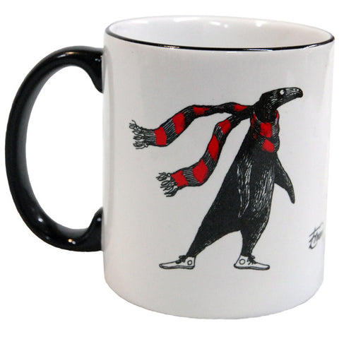 Edward Gorey The Doubtful Guest (with scarf) Mug