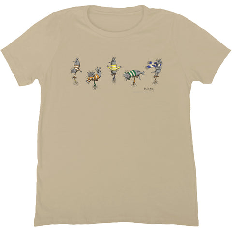Edward Gorey Cats on a Unicycle T-Shirt