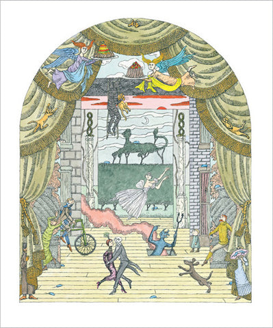 Gorey Theater Dance Print
