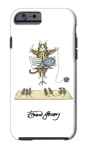 Edward Gorey Cat Conductor iPhone Case