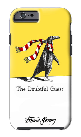 Edward Gorey Doubtful Guest (Yellow) iPhone Case