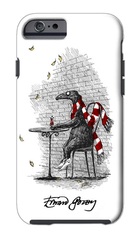 Edward Gorey Doubtful Guest (Cafe) iPhone Case