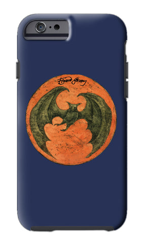 Edward Gorey Batmoon (Orange) iPhone Case