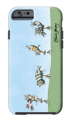 Edward Gorey Cats on Unicycles iPhone Case