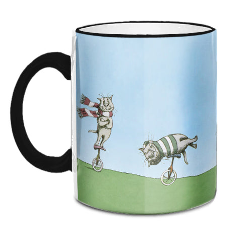Edward Gorey Unicycle Cats Mug