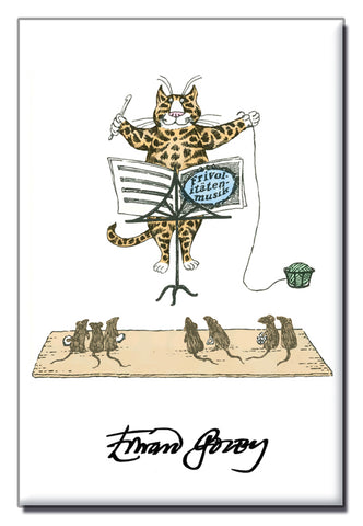 Cat Conductor Magnet - GoreyStore