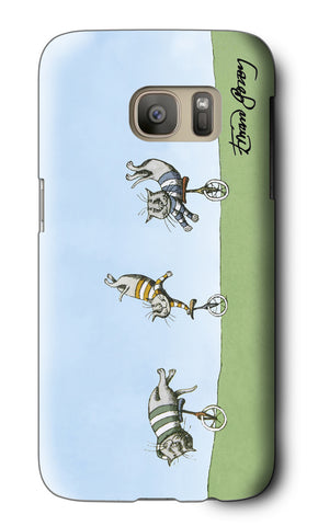 Cats on Unicycles Galaxy Case