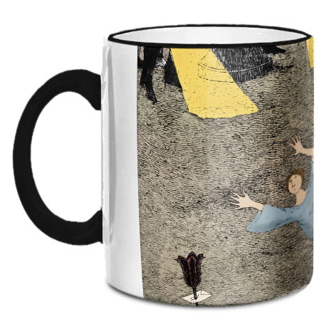 Edward Gorey Tombstone with Woman Mug