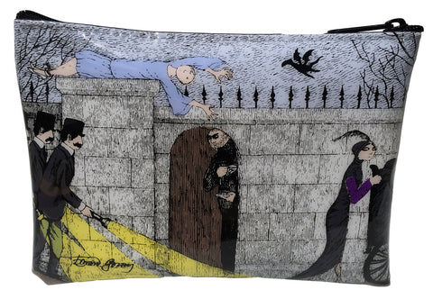 Edward Gorey Three Investigators  Vinyl Cosmetic Case