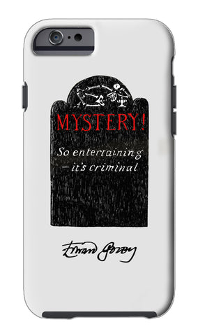 Edward Gorey Tombstone iPhone Case