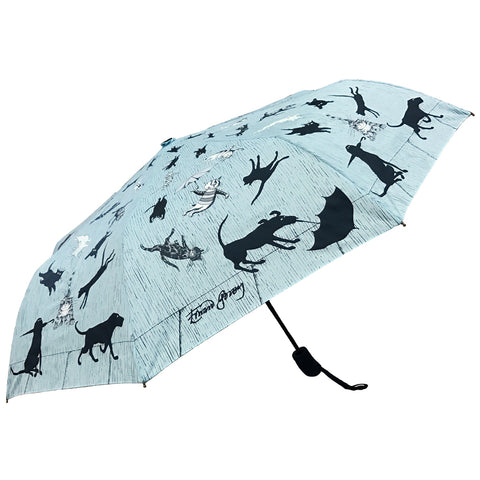 Raining Cats and Dogs Compact Umbrella (Pre-Order) - GoreyStore
