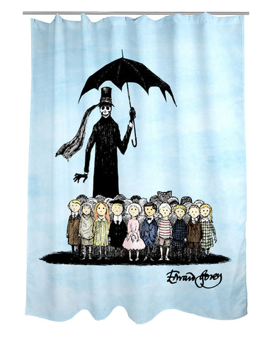 Gashlycrumb Tinies Shower Curtain - GoreyStore