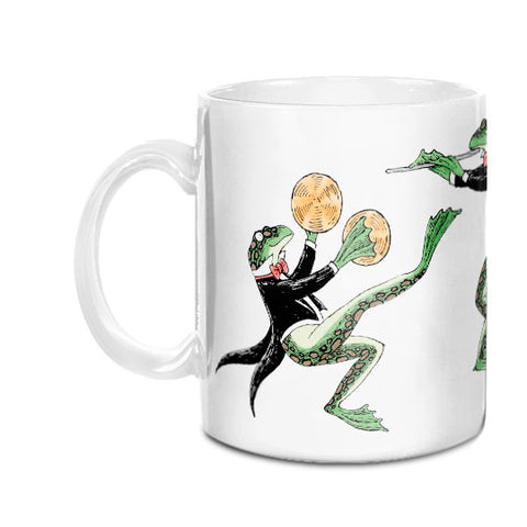 Symphony Frogs (Cymbals/Flute/Piano) Mug - GoreyStore