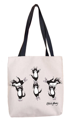 Ballet Cats Tote Bag - GoreyStore