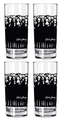 Edward Gorey Cocktail Hour (Set of 4) Save $6.00 Highball Glass