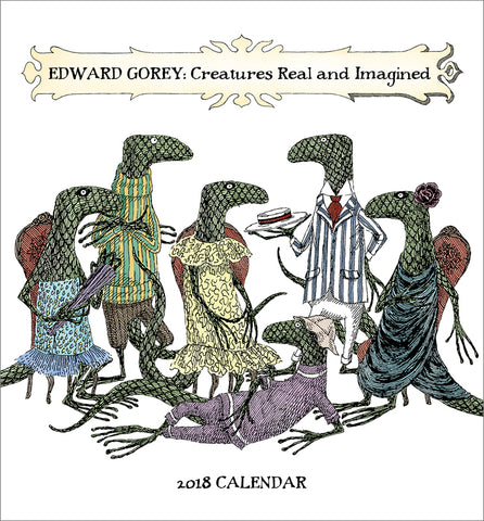 Edward Gorey Creatures Real & Imagined 2018 Mini Wall Calendar