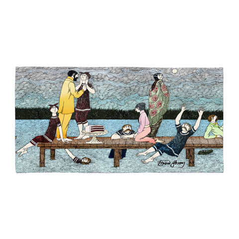 Edward Gorey Summer Pier Towel