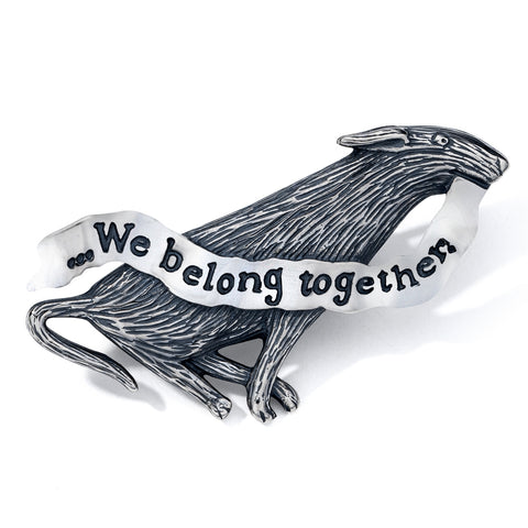 We Belong Together Pin Sterling Silver