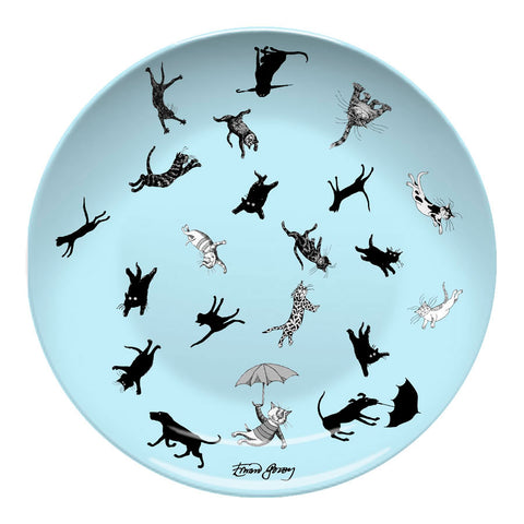 Edward Gorey Raining Cats & Dogs Resin Plate