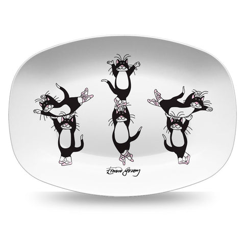 Edward Gorey Ballet Cats Resin Serving Dish