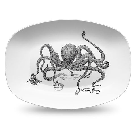 Edward Gorey Octopus Resin Serving Dish