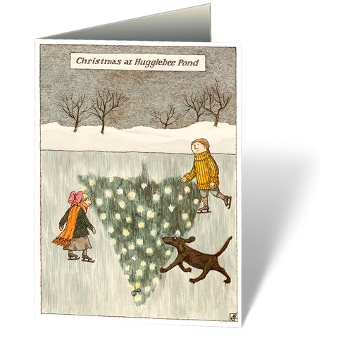 Christmas at Hugglebee Pond Holiday Notecards (Set of 12) - GoreyStore