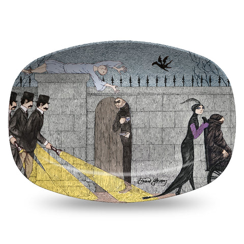 Edward Gorey Three Detectives Resin Serving Dish