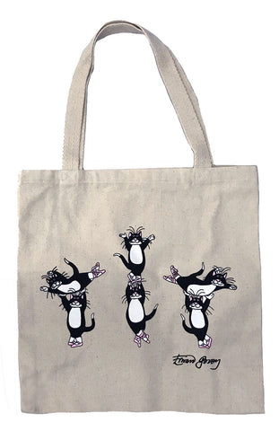 Ballet Cats  Canvas Tote Bag