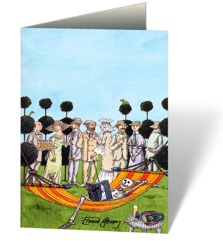 Edward Gorey Summer Reading Notecard
