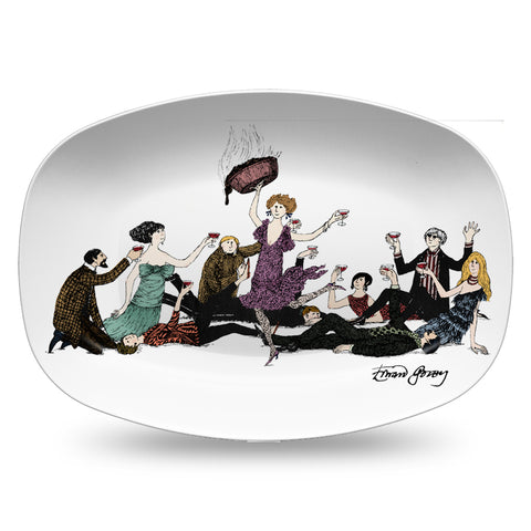Edward Gorey Surprise Guest Resin Serving Dish