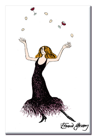 Edward Gorey Juggling Hostess Magnet