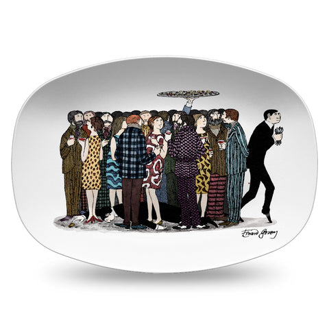 Edward Gorey Sterling Sliver Mystery Resin Serving Dish