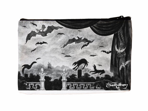 Dracula Faux Suede Cosmetic Case - GoreyStore