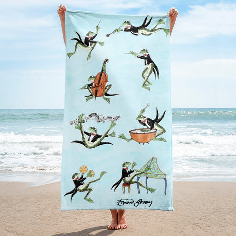 Symphony Frogs Towel - GoreyStore