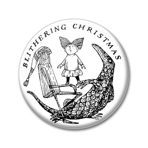 Blithering Christmas Round Magnet - GoreyStore