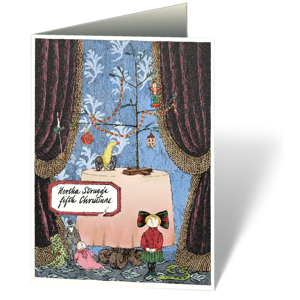 Edward Gorey\'s Hertha Strugg\'s fifth Christmas Holiday Notecards ...