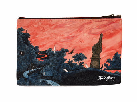 Haunted America Faux Suede Cosmetic Case - GoreyStore