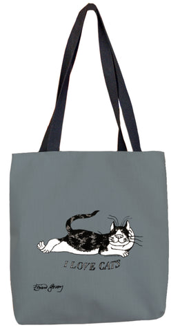 I Love Cats Tote Bag - GoreyStore