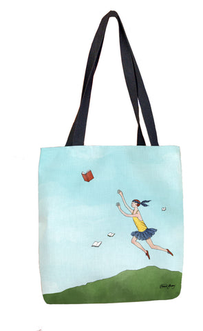 Flying Books Tote Bag