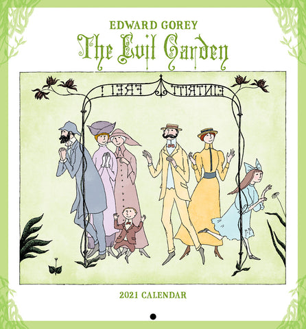 2021 Mini Wall Calendar (The Evil Garden) + $5.00 donation - GoreyStore