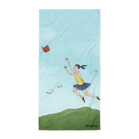 Flying Books Towel - GoreyStore