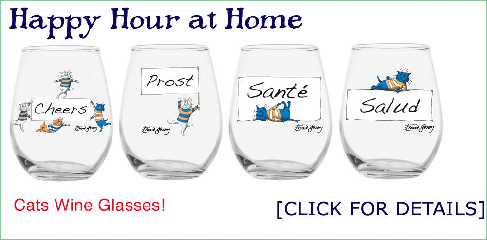 Cats Wine Glasses