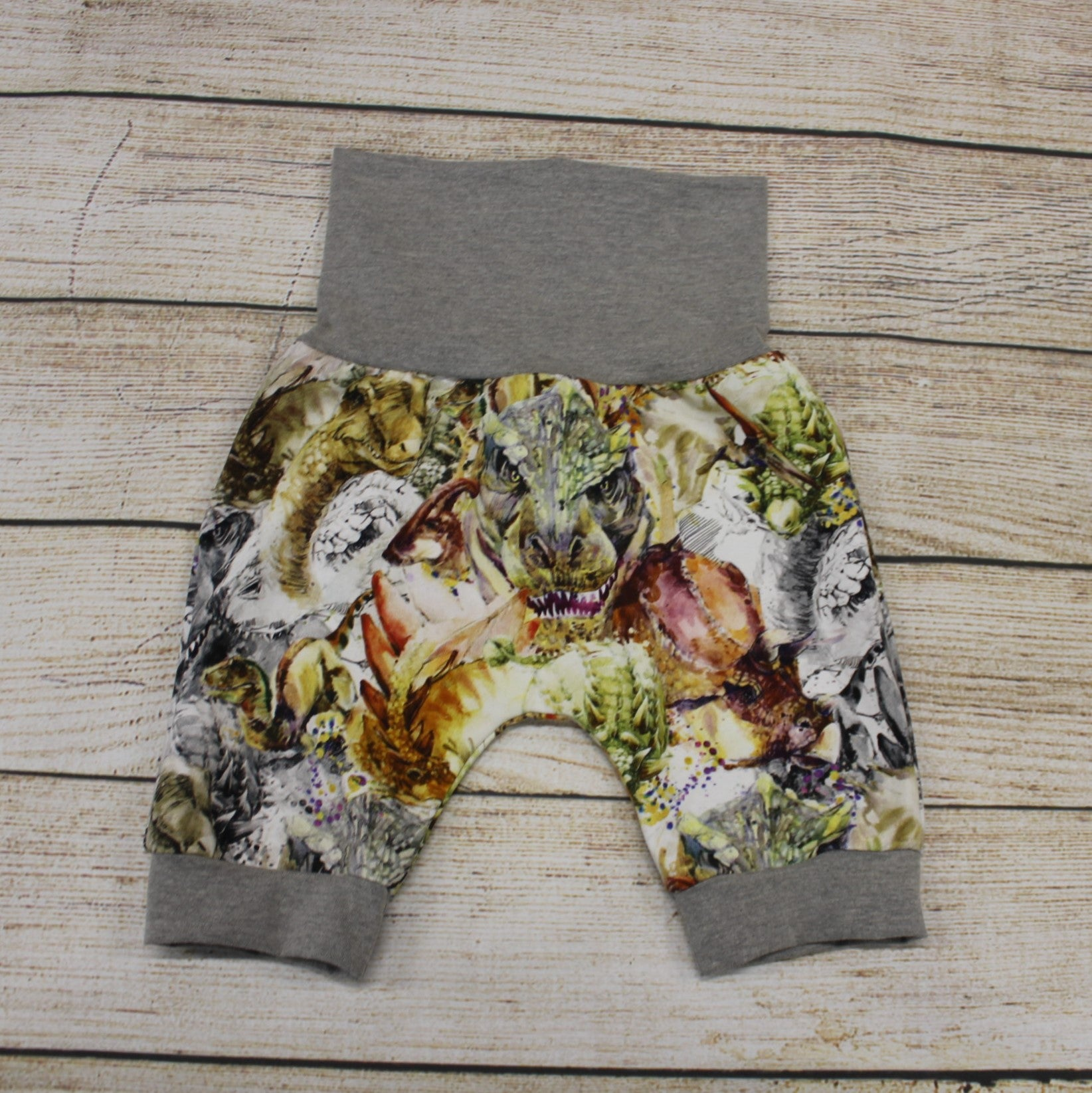 Watercolour Dinosaur Sketch Bunny Bottom Shorts