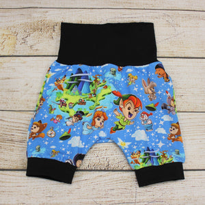Never Grow Up Bunny Bottom Shorts 3-12m