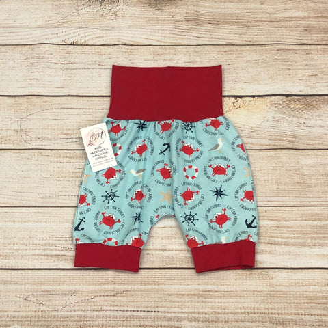 Captain Crabby Red Bunny Bottom Shorts