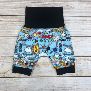 Superhero Words Blue Bunny Bottom Shorts