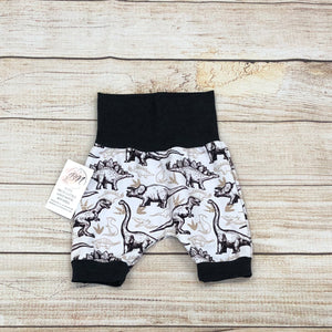 Dino Sketch Cream Bunny Bottom Shorts 3-12m